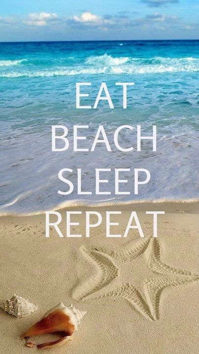 eat sleep beach